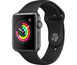 Save £14 at Currys on APPLE Watch Series 3 - Space Grey & Black Sports Band, 42 mm