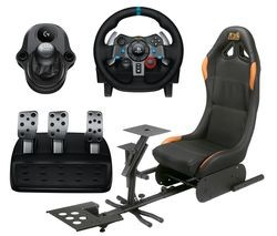 Save £50 at Currys on LOGITECH Driving Force G29 Racing Wheel & Pedals, Gaming Chair & Driving Force Shifter Bundle