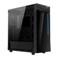 Save £5 at Scan on Gigabyte C200 Glass Mid Tower, Tempered Glass Window, Black, 120mm Fan, ATX/MicroATX/Mini-ITX