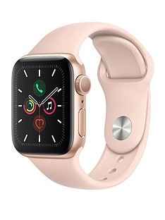 Save £20 at Very on Apple Watch Series 5 (GPS), 40mm Gold Aluminium Case with Pink Sand Sport Band