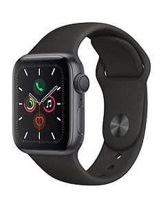 Save £20 at Very on Apple Watch Series 5 (GPS), 40mm Space Grey Aluminium Case with Black Sport Band