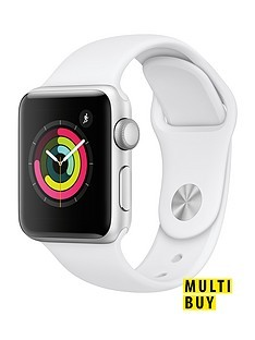 Save £10 at Very on Apple Watch Series 3 (2018 GPS), 38mm Silver Aluminium Case with White Sport Band