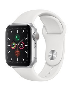 Save £20 at Very on Apple Watch Series 5 (GPS), 40mm Silver Aluminium Case with White Sport Band