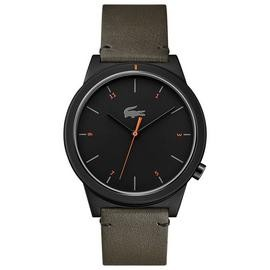 Save £32 at Argos on Lacoste Black Dial Mens Khaki Leather Strap Watch