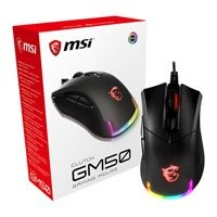 Save £16 at Scan on MSI Clutch GM50 Optical FPS Gaming Mouse, RGB Back-Lit, 7200dpi, Wired, USB 2.0, 6 Buttons, 1ms, Black, Omron Switches