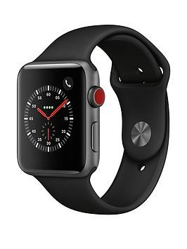 Save £80 at Very on Apple Watch Series 3 (2018 Gps + Cellular), 42Mm Space Grey Aluminium Case With Black Sport Band
