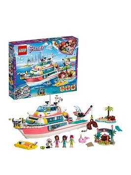 Save £11 at Very on Lego Friends 41381 Rescue Mission Boat Toy With Mini Dolls