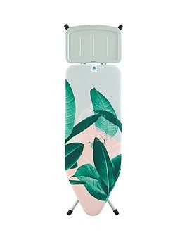 Save £25 at Very on Brabantia Wide Ironing Board With Steam Unit Iron Rest - Tropical Leaves Design