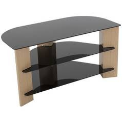 Save £17 at Argos on AVF Up to 42 Inch TV Stand - Black Glass and Oak Effect