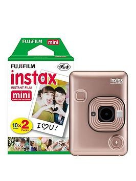 Save £20 at Very on Fujifilm Instax Mini Liplay Hybrid Blush Gold Instant Camera Inc 20 Shots - Instant Camera Only