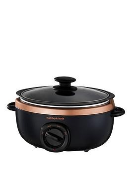 Save £5 at Very on Morphy Richards Evoke 3.5-Litre Manual Slow Cooker - Black/Rose Gold