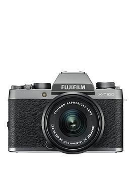 Save £201 at Very on Fujifilm Fujifilm X-T100 Dark Silver With Black Xc15-45Mm Lens