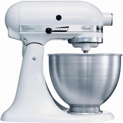 Save £104 at AO on KitchenAid 5K45SS Stand Mixer with 4.3 Litre Bowl - White