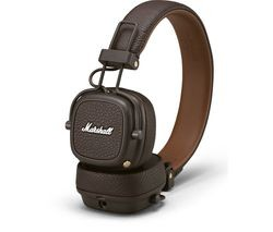 Save £30 at Currys on MARSHALL Major III Wireless Bluetooth Headphones - Brown