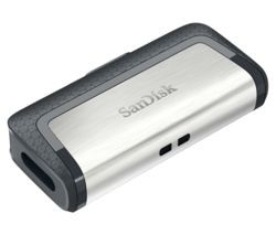 Save £12 at Currys on SANDISK Ultra USB Type-C & USB 3.1 Dual Memory Stick - 64 GB, Silver