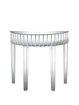 Save £40 at Very on Michelle Keegan Home Vegas Half Moon Mirrored Occasional Console Table