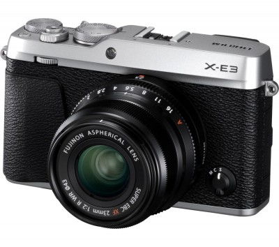 Save £100 at Currys on FUJIFILM X-E3 Mirrorless Camera with XF 23 mm f/2 Lens - Silver, Silver