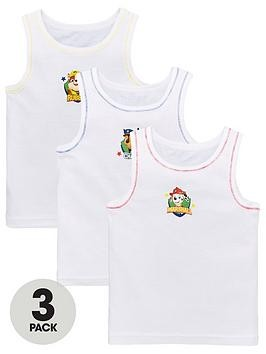Save £1 at Very on Paw Patrol Boys 3 Pack Vests - White