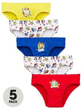 Save £2 at Very on Paw Patrol Boys 5 Pack Briefs - Multi