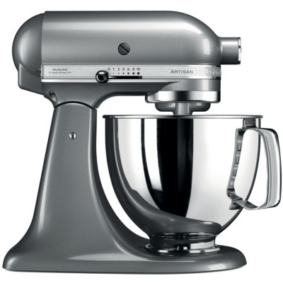 Save £90 at PRCDirect on KitchenAid 5KSM125BCU 4.8 Litre ARTISAN Stand Mixer, Contour Silver