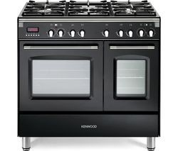 Save £130 at Currys on KENWOOD CK435BL 90 cm Dual Fuel Range Cooker - Black & Stainless Steel