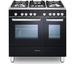 Save £130 at Currys on KENWOOD CK406 90 cm Dual Fuel Range Cooker - Black & Chrome