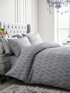 Save £7 at Very on Ideal Home Metallic Wave Duvet Cover Set