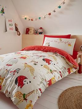 Save £8 at Very on Catherine Lansfield Jungle Bells Christmas Duvet Cover Set