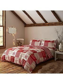 Save £3 at Very on Catherine Lansfield Let It Snow Christmas Duvet Cover Set