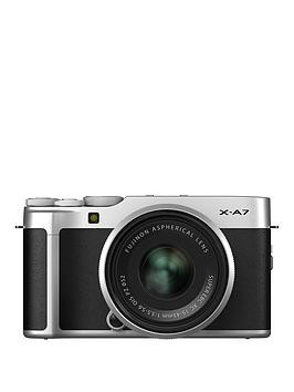 Save £101 at Very on Fujifilm Fujifilm X-A7 Camera Silver 24.2Mp 3.5Lcd Touch Screen Inc Xc 15-45Mm Silver Lens