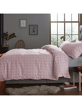 Save £8 at Very on Silentnight Contemporary Check Brushed Cotton Duvet Cover Set