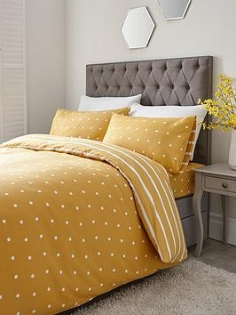 Save £5 at Very on Everyday Collection Brushed Cotton Printed Spot Duvet Cover Set