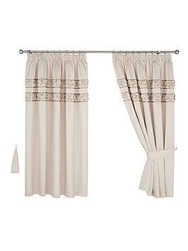 Save £25 at Very on Franchesca Faux Silk Lined Pencil Pleat Curtains