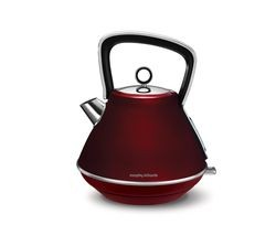 Save £6 at Currys on MORPHY RICHARDS Evoke One Traditional Kettle - Red