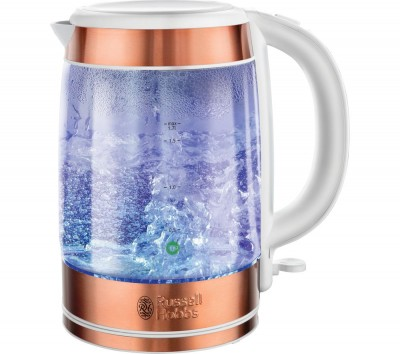 Save £35 at Currys on RUSSELL HOBBS Illuminating 21603 Jug Kettle - Copper, Blue