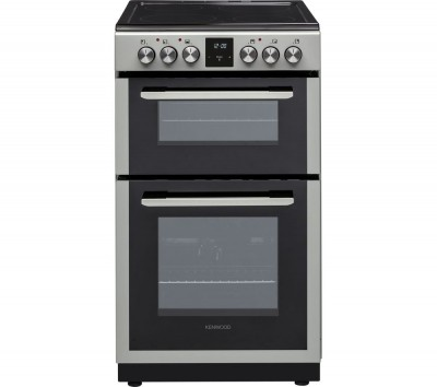 Save £50 at Currys on KENWOOD KDC506S19 50 cm Electric Ceramic Cooker - Silver, Silver