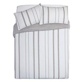 Save £13 at Argos on Argos Home Grey Yarn Dye Stripe Bedding Set - Double