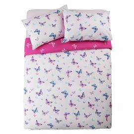 Save £5 at Argos on Argos Home Reverse Pink Butterfly Bedding Set - Double