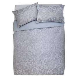 Save £14 at Argos on Argos Home Grey Damask Jacquard Bedding Set - Superking