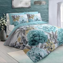 Save £6 at Argos on Argos Home Duck Egg Floral Bloom Bedding Set - Single