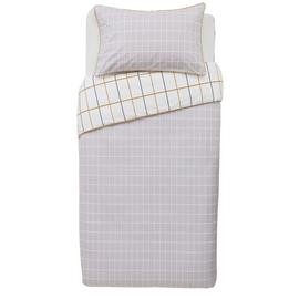 Save £9 at Argos on Argos Home Mustard & Grey Checked Bedding Set - Single