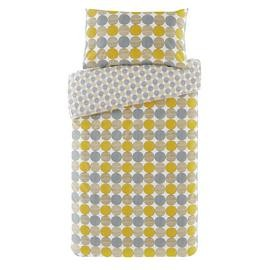 Save £5 at Argos on Argos Home Mustard and Grey Circles Bedding Set - Single