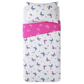 Save £4 at Argos on Argos Home Reverse Pink Butterfly Bedding Set - Single