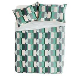 Save £9 at Argos on Argos Home Geo Squares Printed Bedding Set - Kingsize