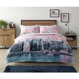 Save £7 at Argos on Argos Home Pink New York Skyline Bedding Set - Kingsize
