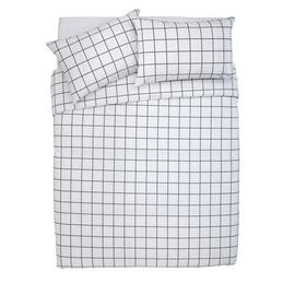 Save £6 at Argos on Argos Home Newstalgia Grid Bedding Set - Kingsize