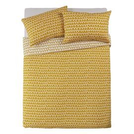 Save £5 at Argos on Argos Home Mustard Squiggle Bedding Set - Kingsize