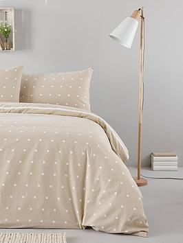 Save £3 at Very on Everyday Collection Brushed Cotton Printed Spot Duvet Cover Set - Natural