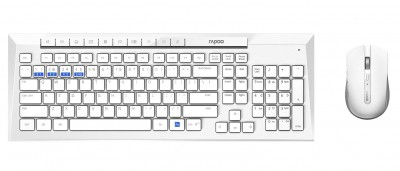 Save £4 at Argos on Rapoo 8200M Wireless Multi-Mode Mouse and Keyboard - White