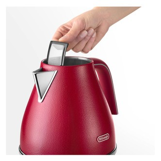 Save £11 at Sonic Direct on Delonghi KBOE3001 RD Icona Elements Cordless Jug Kettle in Red 1 7L 3